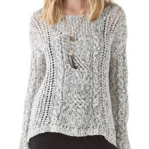 FREE PEOPLE marled west end cable knit sweater